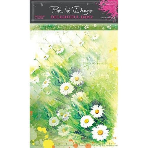 Pink Ink Designs Delightful Daisy A4 Rice Paper